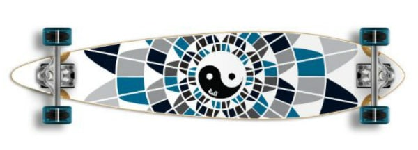 Monopatín PINTAIL Longboard completo Special Graphic